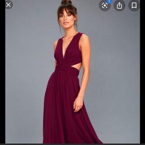 Lulus Vivid Imagination burgundy Cutout Maxi Dress
